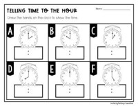 Telling Time: Hour and Half Hour Worksheets & Scoot ...