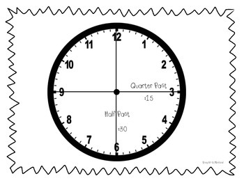 Telling Time After the Hour- Half Past & Quarter Past! by