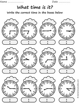 Telling Time Bundle: Telling time to the 5 min Interval by