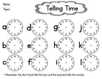 Telling Time Scavenger Hunt Activity by Special Education