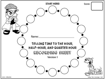 Telling Time to the Hour, Half-hour, and Quarter-hour