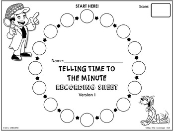 Telling Time to the Minute {Scavenger Hunt Activity} by