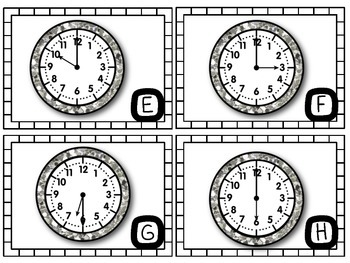Telling Time Scoot! (Hour and Half Hour) by KINDER and so