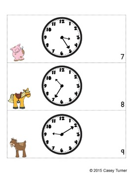 Telling Time Scoot, Task Cards, Assessment: Five Minute