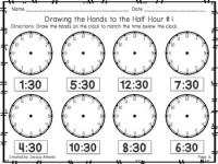 Telling Time Worksheets to the Hour and Half Hour by ...