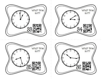 Telling Time to the Minute Task Cards by Meredith Anderson