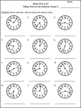 Telling Time to the Minute Worksheets by Copeland's Got