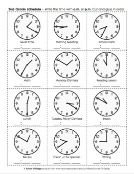 Telling Time to the Nearest 5 Minutes by School of Design