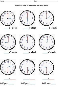 Telling Time to the Nearest Hour, Half Hour, Quarter Hour