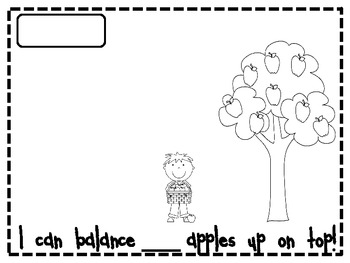 Ten Apples Up On Top Language Art and Math Packet by