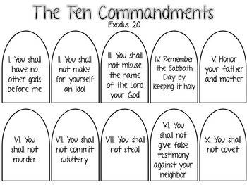 10 commandments of god # 61