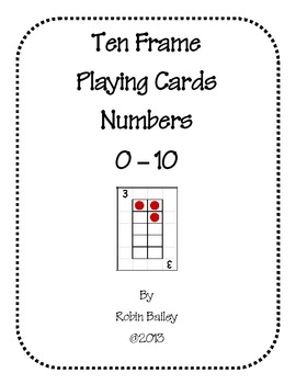 Ten Frame Playing Cards (Black/White & Color) by Robin
