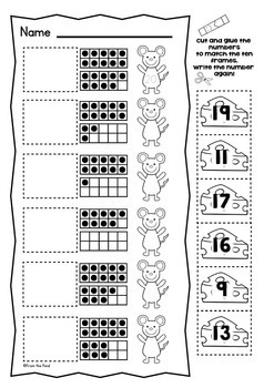 Ten Frames {Fun No Prep Worksheet Activities} by From the