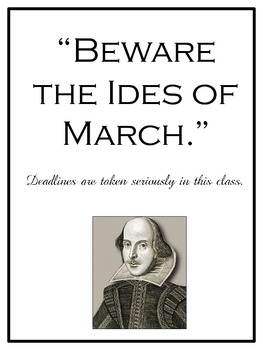 Ten Humorous Classroom Signs With Shakespeare Quotes By Late Night Coffee