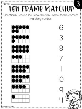 Ten Frame Practice: Worksheets and Games by Special Little