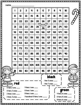 Tens and Ones Place Value Mystery Picture (Gingerbread) 1