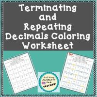 Terminating and Repeating Decimals Coloring Worksheet by ...