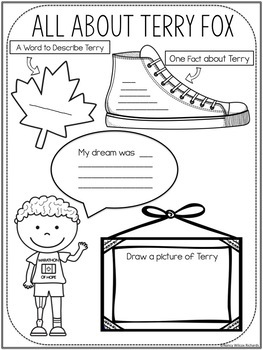 Terry Fox Activities for Grades 1-3 by Nancy Wilcox