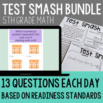 Test Prep 5th Grade Math Review by Teaching In the Fast