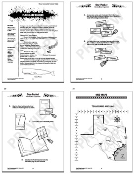 7th Grade Texas Geography Interactive Notebook Unit by