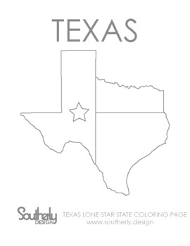 Texas Flag Coloring Page : texas, coloring, Texas, Coloring, Worksheets, Teaching, Resources