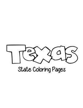 Texas State Coloring Pages by Loving Life in Kindergarten