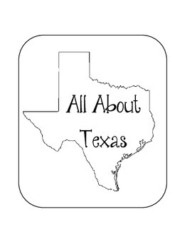Texas State Lapbook. Interactive Notebook. US History and