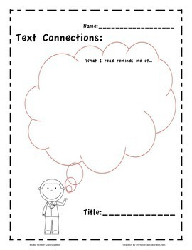 Text-to-Self Connections: Graphic Organizers by Like