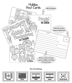 Thanksgiving Around The World Interactive Packet by