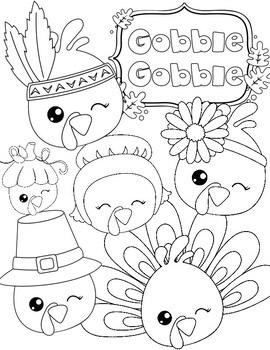 Thanksgiving Coloring Pages: Relax! by Positive Counseling
