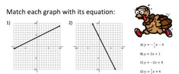 Thanksgiving Digital Escape Room: Writing Linear Equations