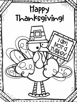 Thanksgiving Grammar Review with Coloring Page by Texas