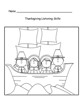 Thanksgiving Listening Skills and Ordinal Numbers by