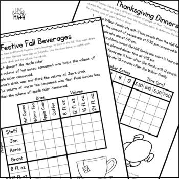 Thanksgiving Math Logic Puzzles {Thanksgiving Activities