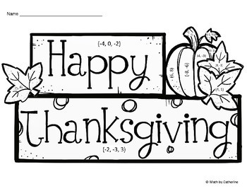 Thanksgiving Math: Thanksgiving Color by Answer Systems of