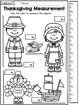 Thanksgiving Math and Literacy Worksheets Bundle (1st