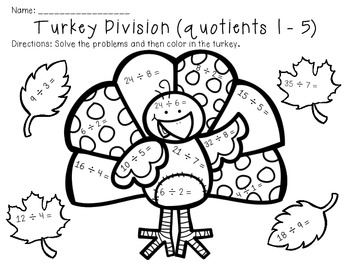 Thanksgiving Multiplication and Division by The Busy Class