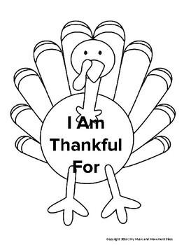 Thanksgiving Music and Movement Lesson Plan, Preschool