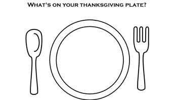 Thanksgiving Plate Writing Activity by Adapted Activities