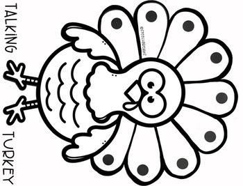 Thanksgiving Speech Therapy Craft Turkey by Speech Dreams