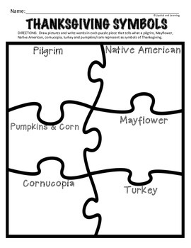 Thanksgiving Symbols Mini Reader, Vocabulary Cards