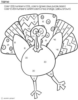 Thanksgiving Themed Second Grade Math Worksheet Pack by