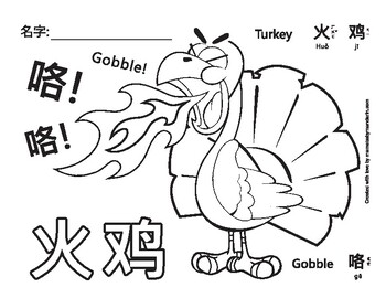thanksgiving turkey coloring page # 59