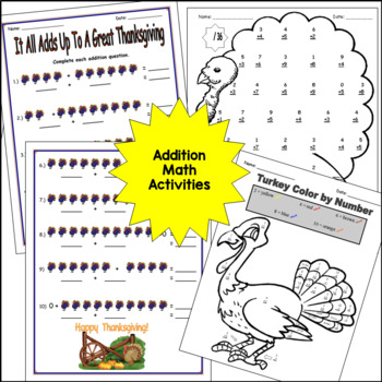 Thanksgiving Worksheets and Activities: Primary Grades by