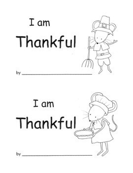 Kindergarten Thanksgiving Printable Book Writing Activity