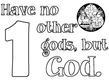 The 10 Commandments Coloring Pages by The School Counselor