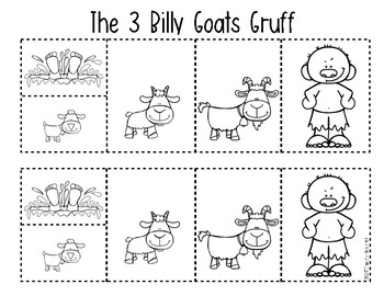 The 3 Billy Goats Gruff {Retelling a Story} Storyboard