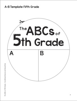 The ABCs of 5th Grade: An End-of-the-Year Culminating