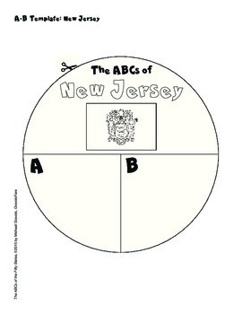 The ABCs of New Jersey: A Circle Book Foldable by