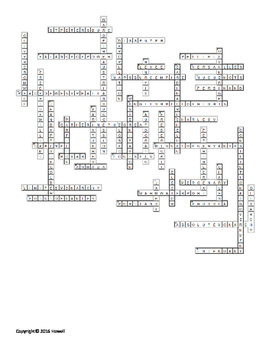 The Age of Absolutism Vocabulary Crossword for World